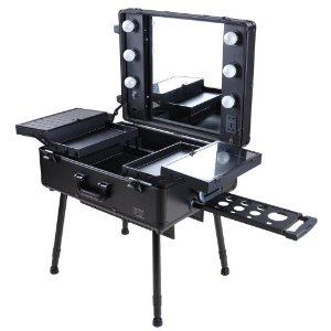 Makeup Trolley with Mirror and Lights